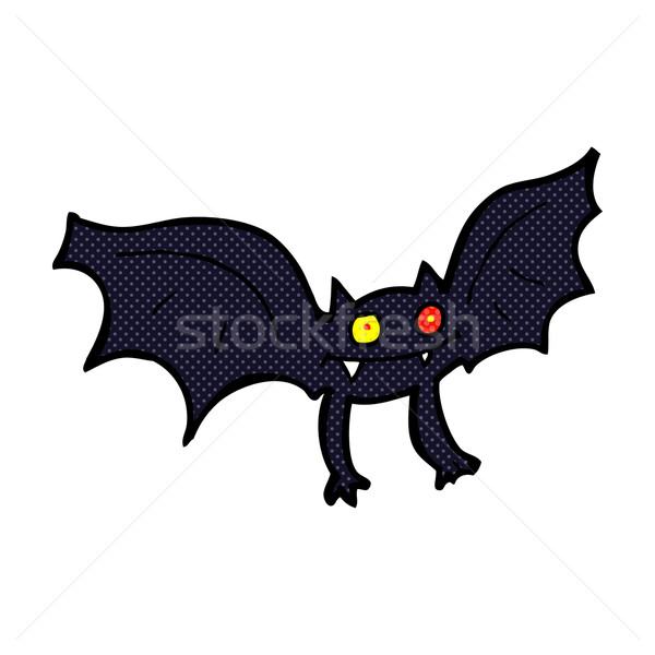Dessinées cartoon vampire bat rétro Photo stock © lineartestpilot