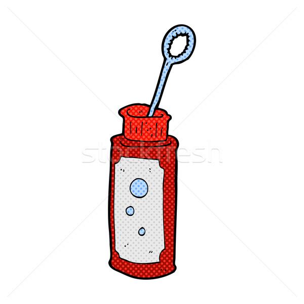 Dessinées cartoon bulle ventilateur rétro Photo stock © lineartestpilot