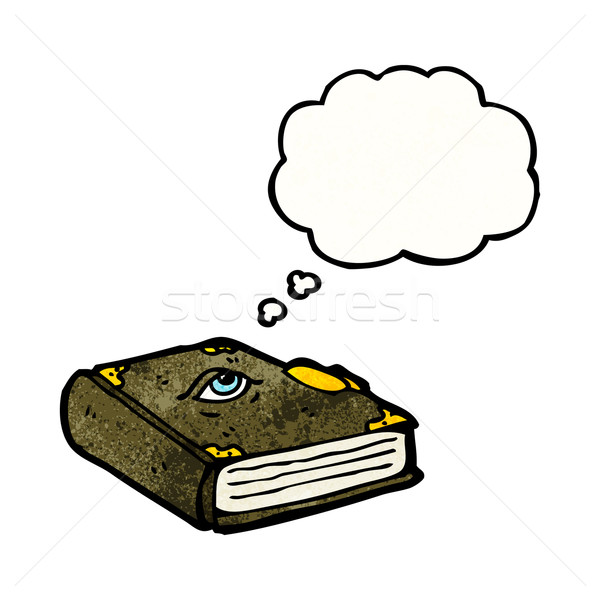 magic spell book cartoon Stock photo © lineartestpilot