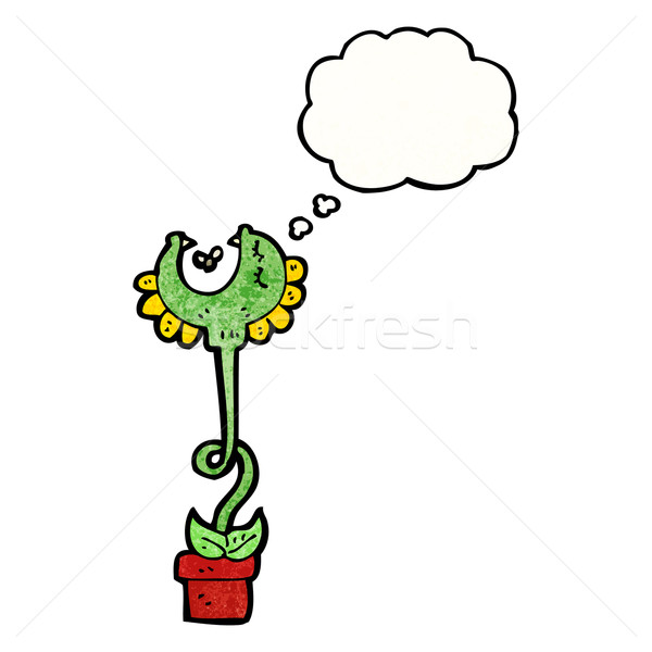 carnivorous flower with thought bubble Stock photo © lineartestpilot