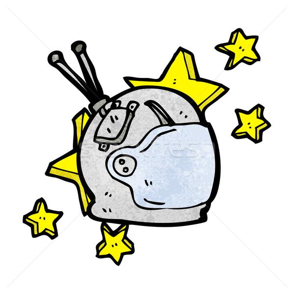 Stock photo: cartoon astronaut helmet