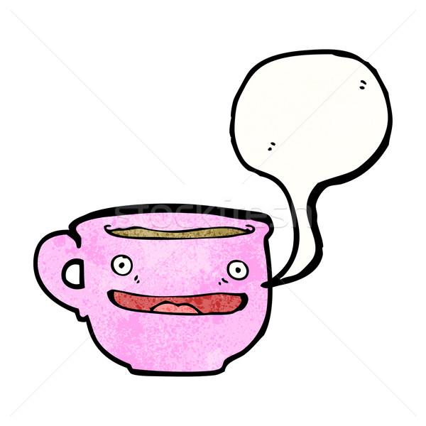 Cartoon чайная чашка искусства ретро Кубок рисунок Сток-фото © lineartestpilot