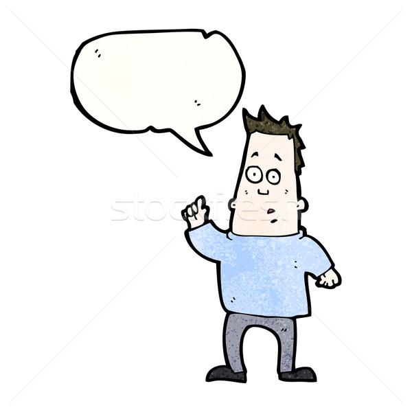 cartoon man asking question Stock photo © lineartestpilot