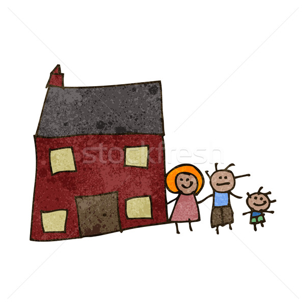 child's drawing of a family home Stock photo © lineartestpilot