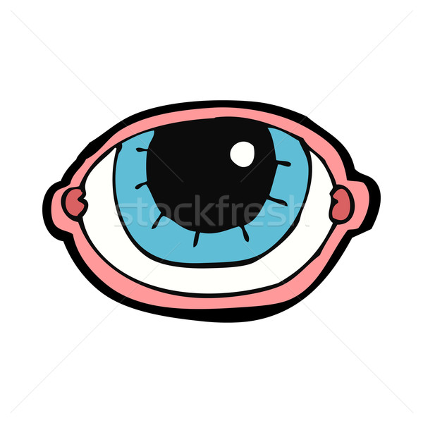 cartoon staring eye Stock photo © lineartestpilot