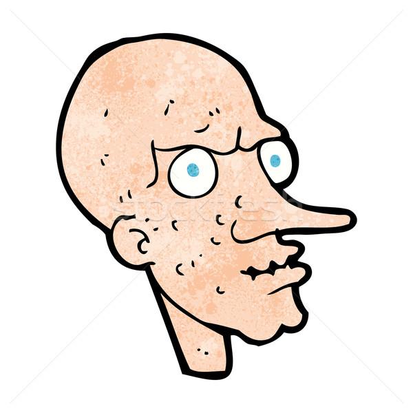 Cartoon зла старик человека дизайна искусства Сток-фото © lineartestpilot