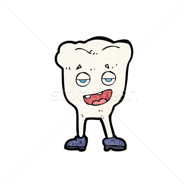cartoon tooth looking smug Stock photo © lineartestpilot