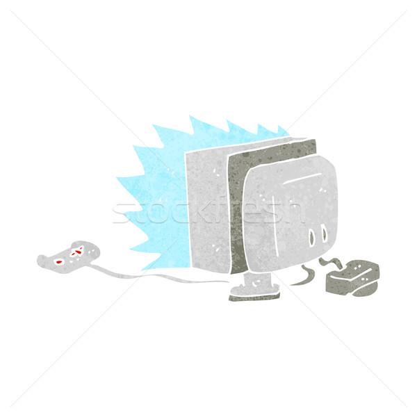 Cartoon computerspel computer hand ontwerp kunst Stockfoto © lineartestpilot