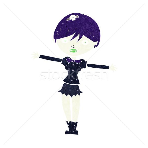 Cartoon vampiro nina mujer mano diseno Foto stock © lineartestpilot