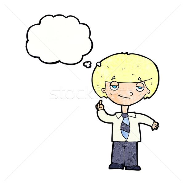 Cartoon questione bolla di pensiero mano uomo Foto d'archivio © lineartestpilot