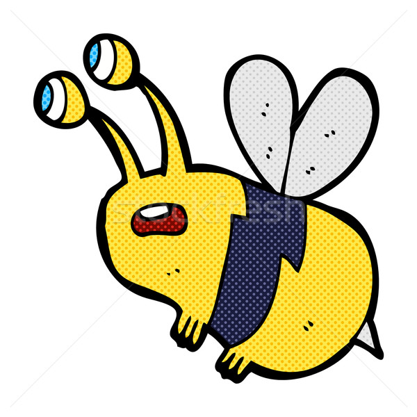 comic cartoon frightened bee Stock photo © lineartestpilot
