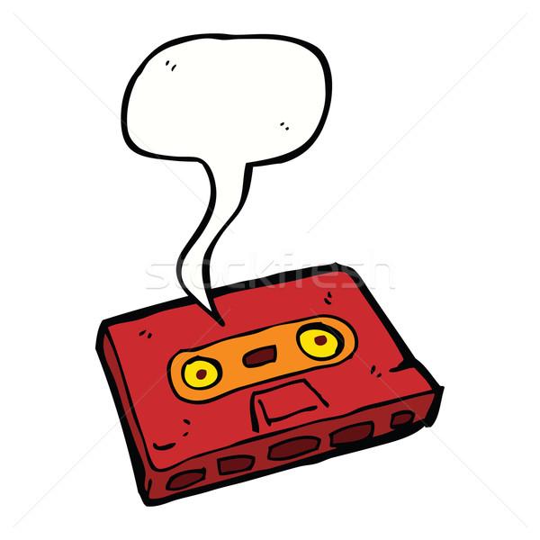 Cartoon cassette nastro fumetto mano design Foto d'archivio © lineartestpilot