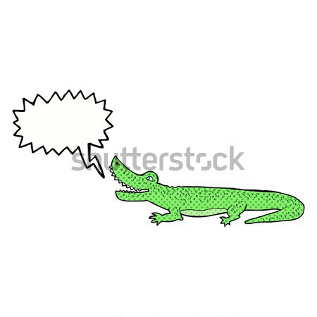 comic cartoon happy crocodile Stock photo © lineartestpilot