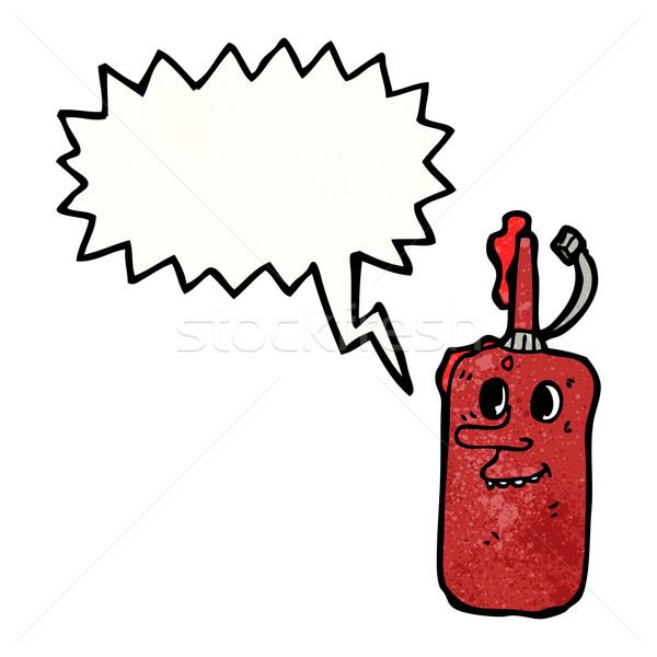 Cartoon ketchup bottiglia Foto d'archivio © lineartestpilot