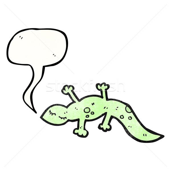 漫画 かわいい トカゲ 芸術 レトロな 図面 ストックフォト © lineartestpilot