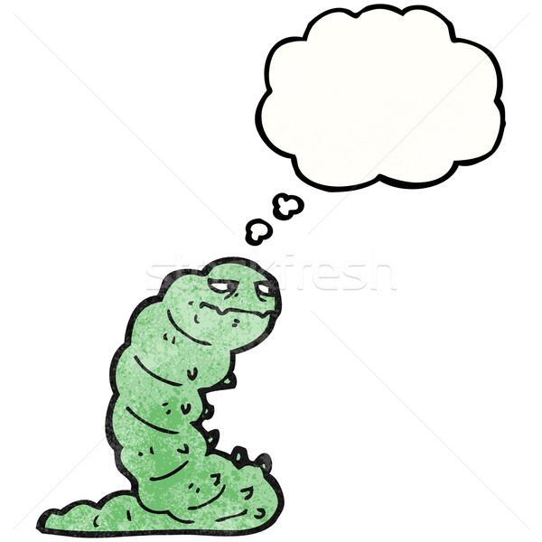 Desenho animado lagarta arte retro desenho idéia Foto stock © lineartestpilot