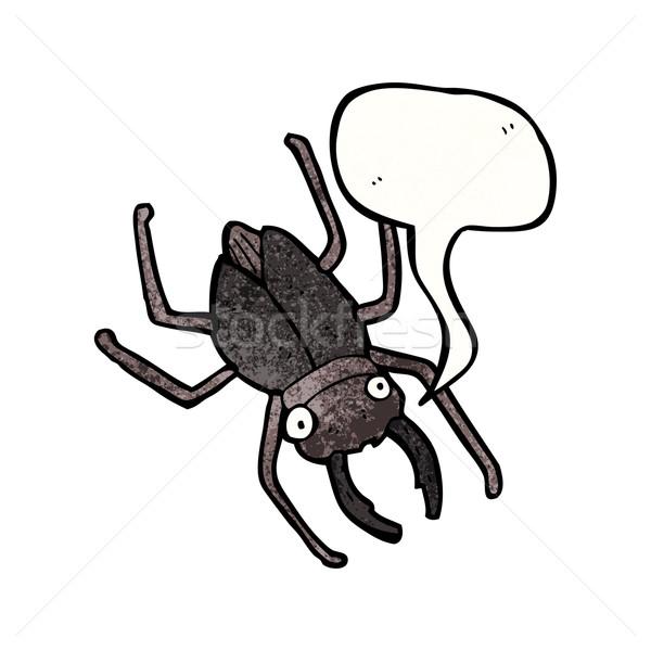 Rajz bogár művészet retro rajz rovar Stock fotó © lineartestpilot