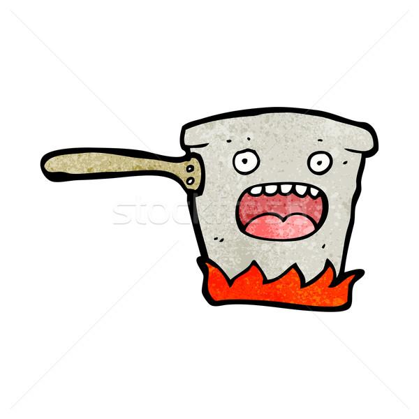 cartoon pan on hob Stock photo © lineartestpilot