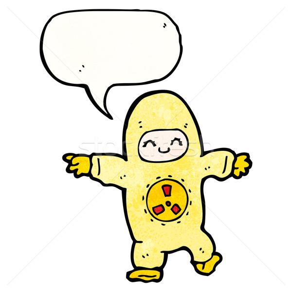 Homem radiação terno desenho animado arte retro Foto stock © lineartestpilot