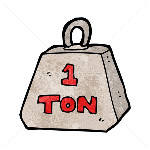 cartoon one ton weight Stock photo © lineartestpilot
