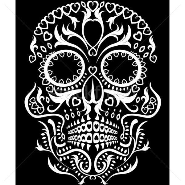 Stock photo: day of the dead skull