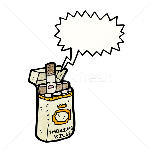 cigarette packet cartoon Stock photo © lineartestpilot