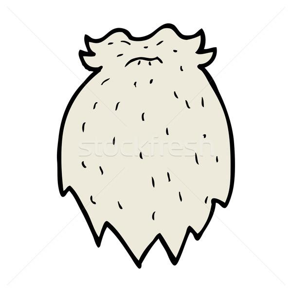 Karikatür sahte sakal dizayn sanat imzalamak Stok fotoğraf © lineartestpilot