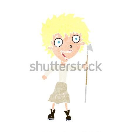 cartoon loud woman Stock photo © lineartestpilot