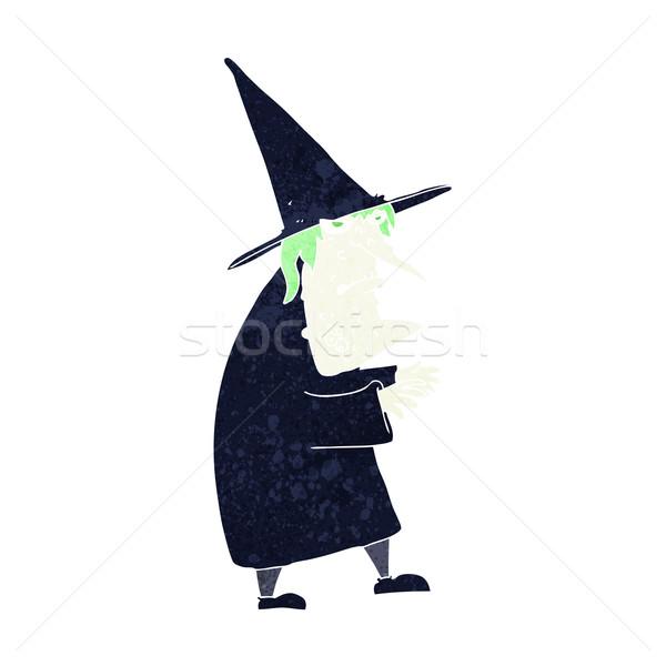 Cartoon feo edad bruja mano diseno Foto stock © lineartestpilot