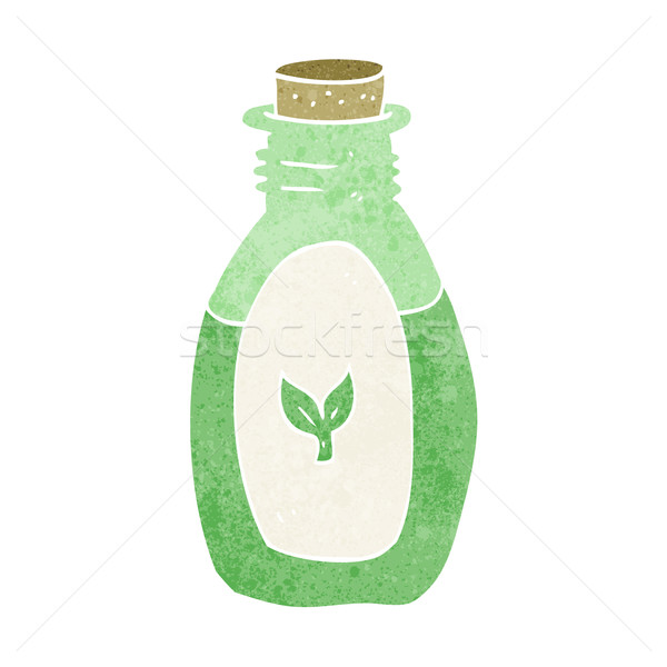 Cartoon phytothérapie main design bouteille fou Photo stock © lineartestpilot