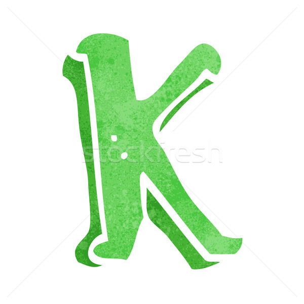 cartoon letter K Stock photo © lineartestpilot