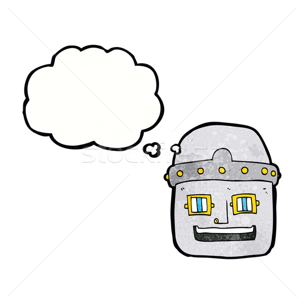 cartoon robot head with thought bubble Stock photo © lineartestpilot