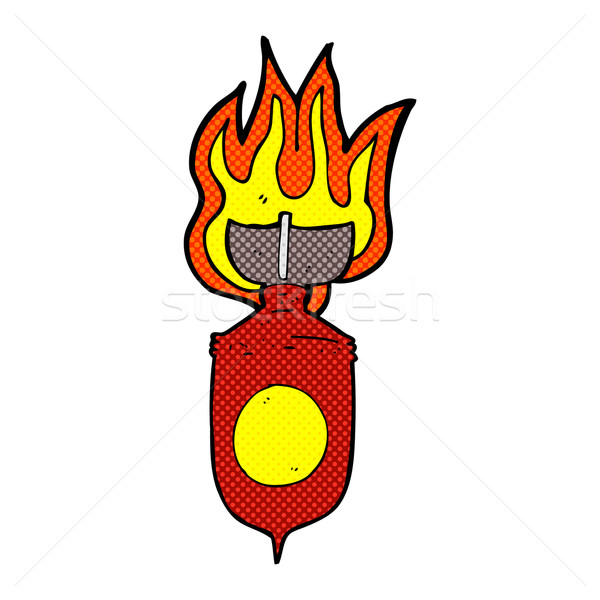 comic cartoon burning bomb Stock photo © lineartestpilot