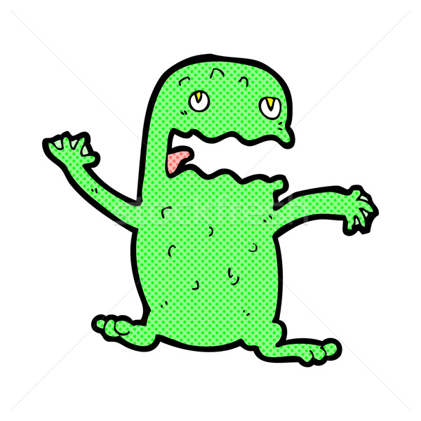 comic cartoon funny frog Stock photo © lineartestpilot