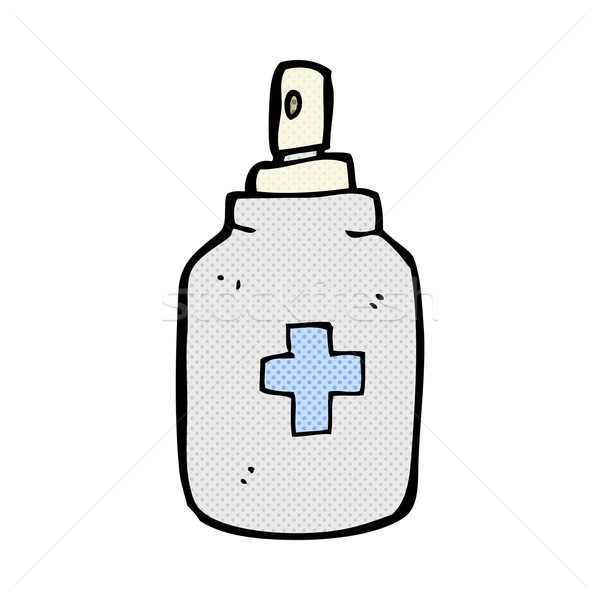 comic cartoon antiseptic spray Stock photo © lineartestpilot