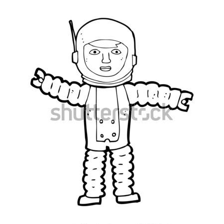 Cômico desenho animado velho pobre roupa retro Foto stock © lineartestpilot