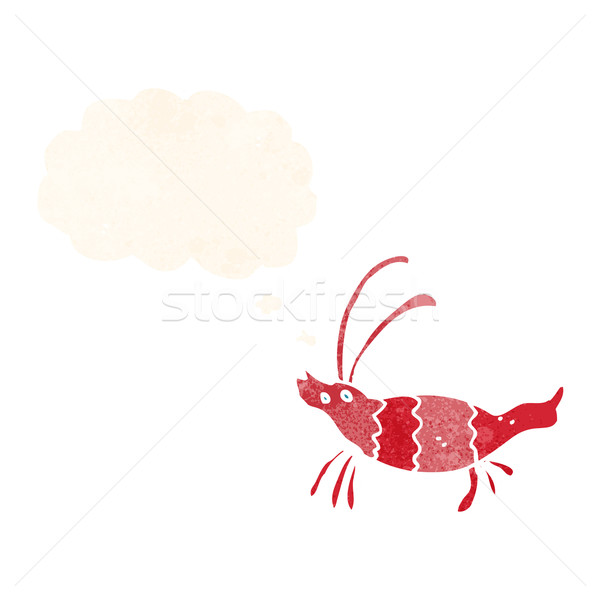 cartoon shrimp with thought bubble Stock photo © lineartestpilot