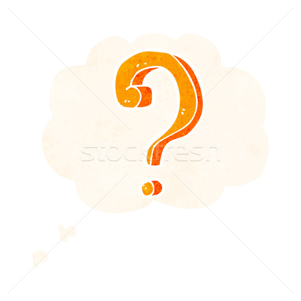 cartoon question mark with thought bubble Stock photo © lineartestpilot