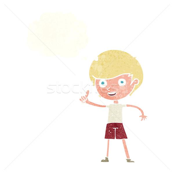 漫画 少年 シンボル 思考バブル 手 ストックフォト © lineartestpilot