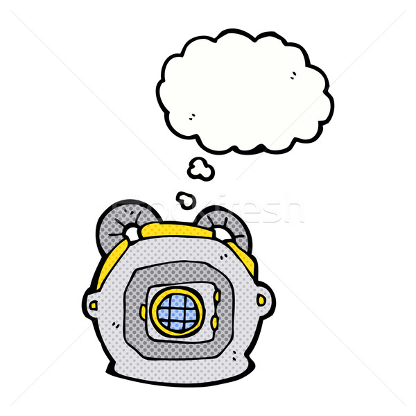 Cartoon edad profundo mar buzo casco Foto stock © lineartestpilot