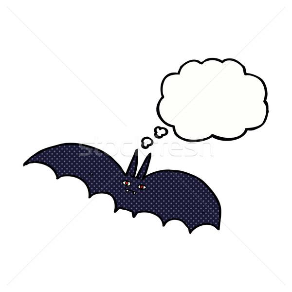 Cartoon wampira bat bubble myśl strony projektu Zdjęcia stock © lineartestpilot
