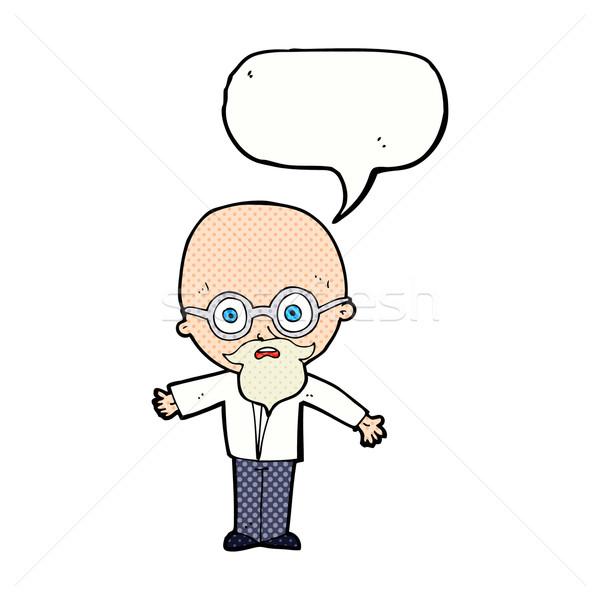 Cartoon genio scienziato fumetto mano uomo Foto d'archivio © lineartestpilot