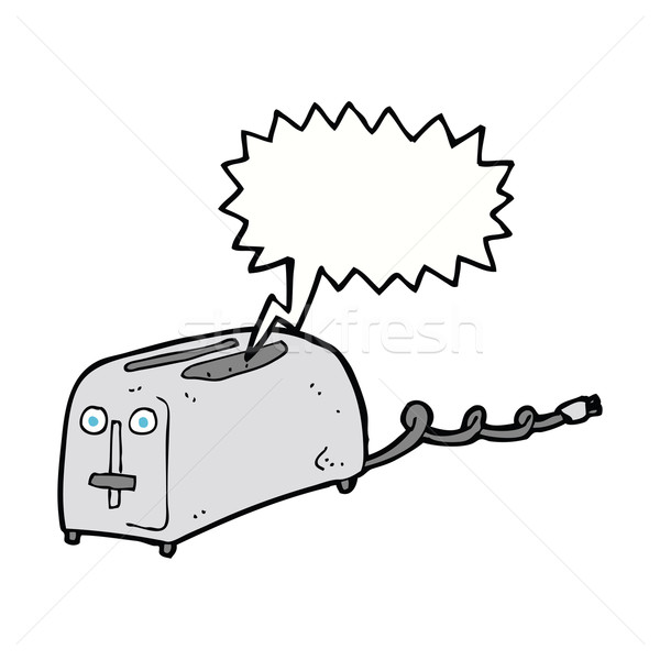 cartoon toaster with speech bubble Stock photo © lineartestpilot