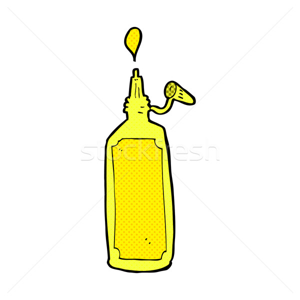 comic cartoon mustard bottle Stock photo © lineartestpilot