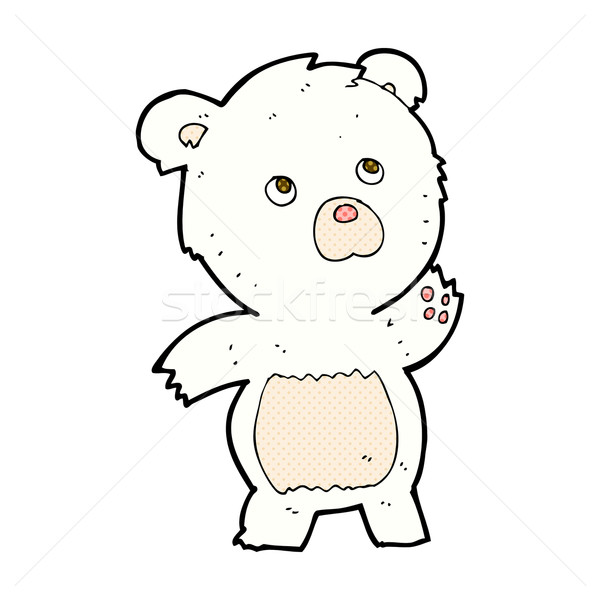 comic cartoon curious polar bear Stock photo © lineartestpilot