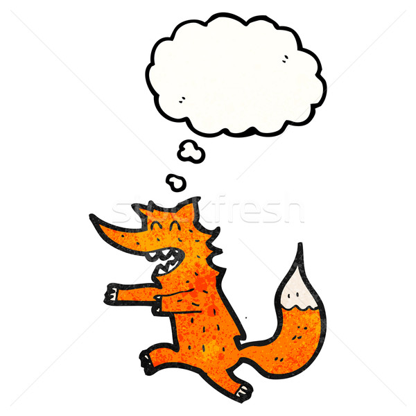 cartoon fox chasing Stock photo © lineartestpilot