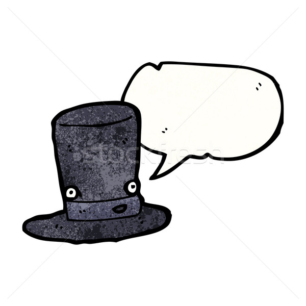 cartoon top hat with speech bubble Stock photo © lineartestpilot