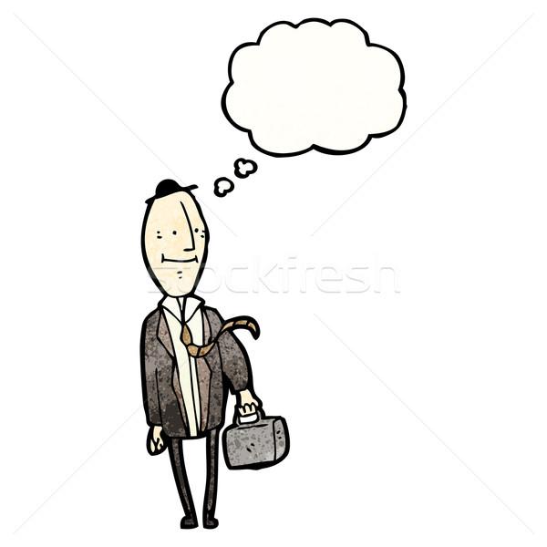 cartoon egghead businessman Stock photo © lineartestpilot