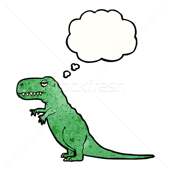 t-rex with thought bubble Stock photo © lineartestpilot