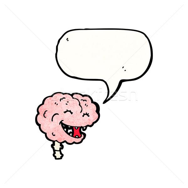 gross laughing brain cartoon Stock photo © lineartestpilot
